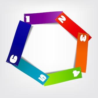 Koncepcja kolorowych okrągłych banerów dla różnych des biznesowych