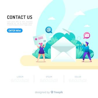Koncepcja kontaktu dla strony docelowej