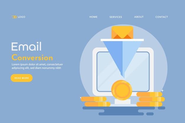 Koncepcja Konwersji Online Premium Wektorów