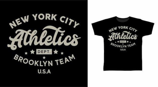 Koncepcja koszulki typografii zespołu lekkoatletycznego brooklyn