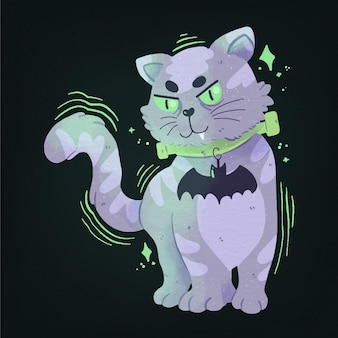 Koncepcja kota festiwalu halloween