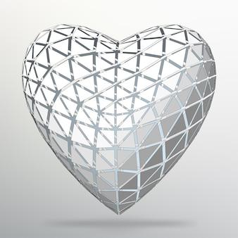 Koncepcja kreatywna tło serca. abstrakcyjne tło wektor koncepcji kreatywnej