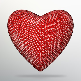 Koncepcja kreatywny tło czerwone serce. abstrakcyjne tło wektor koncepcji kreatywnej