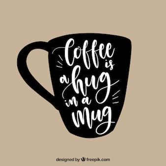 Koncepcja kreatywnych kubek kawy z napisem