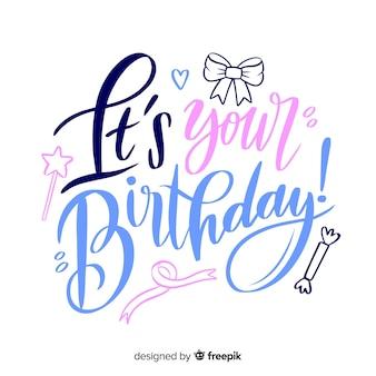 Koncepcja kreatywnych napis urodziny