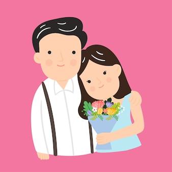 Koncepcja kreskówka małżeństwa