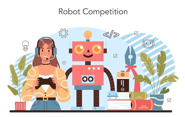 Koncepcja kursu szkoły robotyki. lekcja inżynierii robotyki i konstruowania