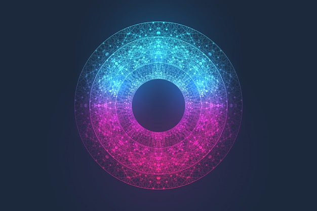 Koncepcja kwantowej technologii komputerowej. głęboka nauka sztucznej inteligencji.