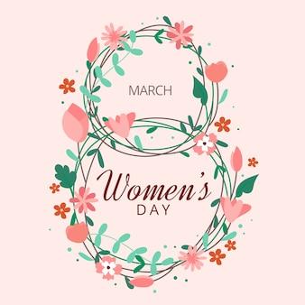 Koncepcja kwiatowy dzień kobiet
