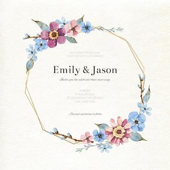 Koncepcja kwiatowy rama ślubu