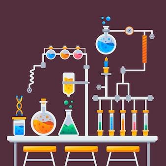 Koncepcja laboratorium naukowe płaska konstrukcja