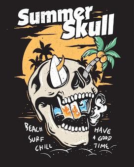 Koncepcja lato czaszki