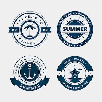 Koncepcja lato etykiety
