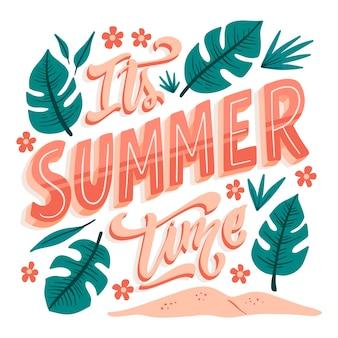 Koncepcja lato napis
