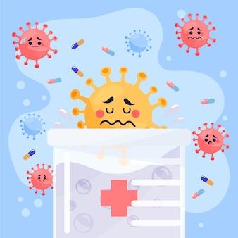 Koncepcja leczenia wirusów za pomocą substancji