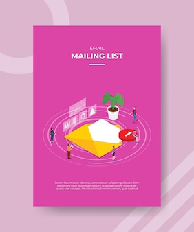 Koncepcja listy mailingowej dla szablonu.
