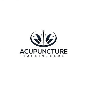 Koncepcja logo akupunktury