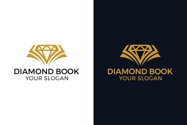 Koncepcja logo diamentowej książki