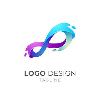 Koncepcja logo fali nieskończoności