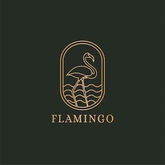 Koncepcja logo flamingo