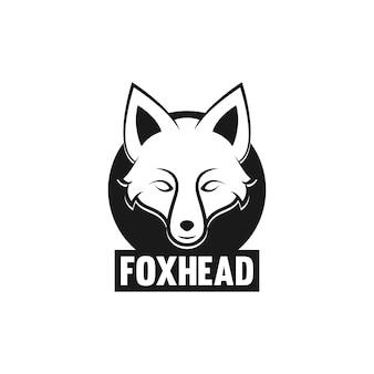 Koncepcja logo ilustracja głowy lisa