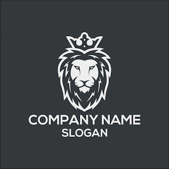 Koncepcja logo king lion