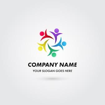 Koncepcja logo kolor grupy firmy