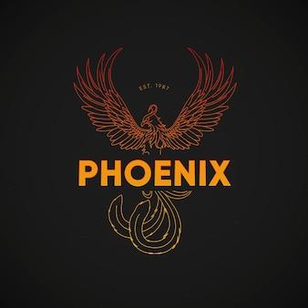 Koncepcja logo kolorowe feniks