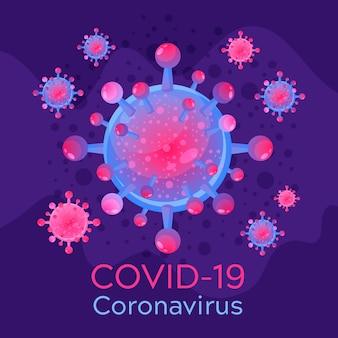 Koncepcja logo koronawirusa dla szablonu