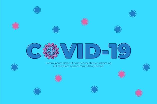 Koncepcja logo koronawirusa