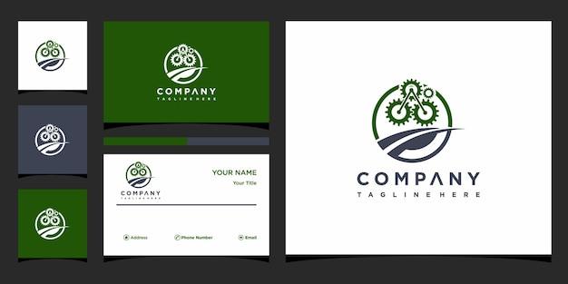 Koncepcja logo kreatywnego rozwiązania i wizytówka premium wektor