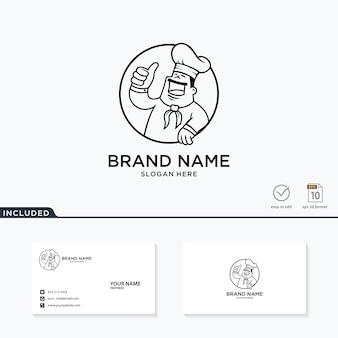 Koncepcja logo kreatywnego szefa kuchni