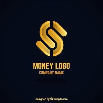Koncepcja logo kreatywnych pieniędzy