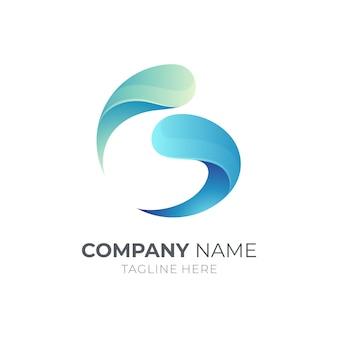 Koncepcja logo litery g i wody