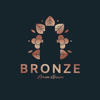 Koncepcja logo luksusowych perfum kwiatowy