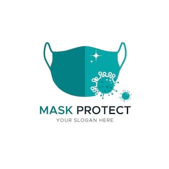 Koncepcja logo maski na twarz