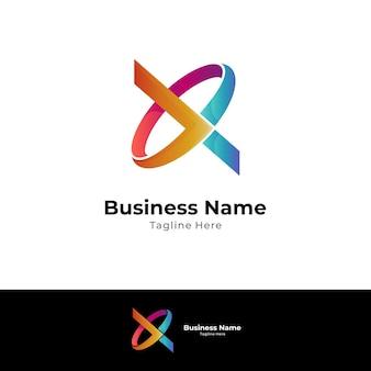 Koncepcja logo monogram litery x i litery o