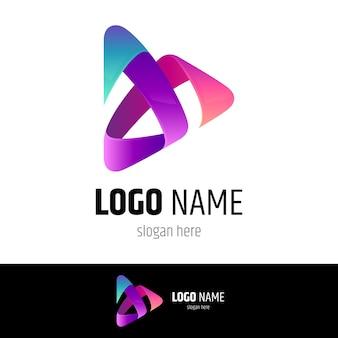 Koncepcja logo odtwarzania mediów