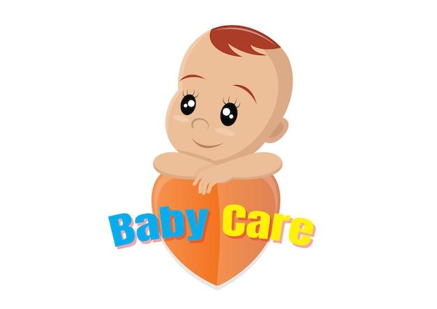 Koncepcja logo opieki nad dzieckiem.