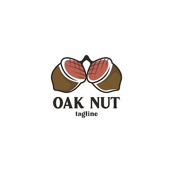 Koncepcja logo orzecha dębowego