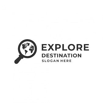 Koncepcja logo podróży.