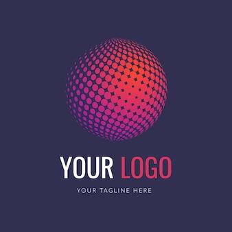 Koncepcja logo półtonów 3d