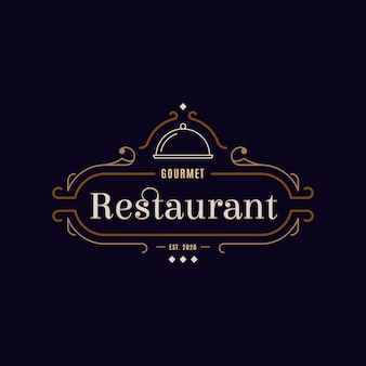 Koncepcja logo restauracji retro