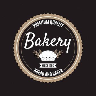 Koncepcja logo retro piekarnia