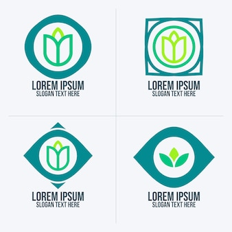 Koncepcja logo roślin