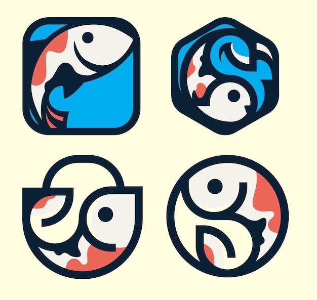 Koncepcja logo ryb dla aplikacji