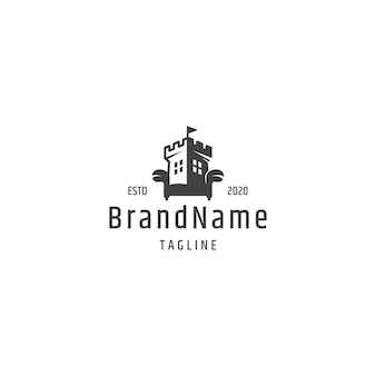 Koncepcja logo zamek sofa
