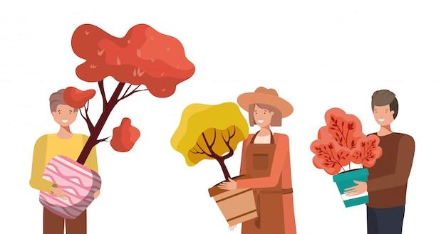 Koncepcja ludzi i ogrodnictwa