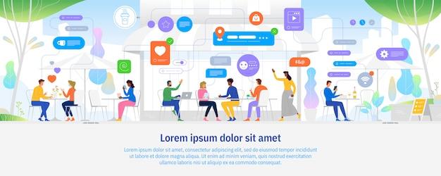 Koncepcja ludzi w sieci. ilustracja