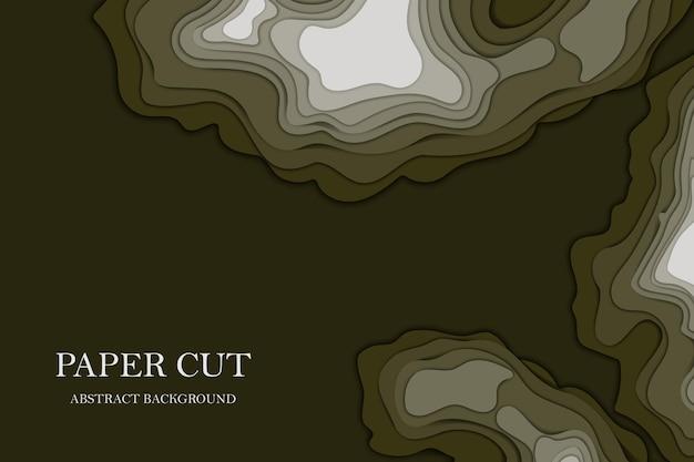 Koncepcja mapy topograficznej lub gładkie warstwy origami wycinane z papieru